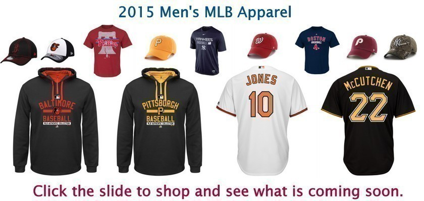 Bleacher Bums offers men's mlb apparel.  From popular companies like Nike, Majestic, Brand 47, Mitchell & Ness, and New Era, Bleacher Bums offers something for everyone.  Check out our selection of hats, jerseys, tee shirts, tank tops, and sweatshirts.  Bleacher Bums offers free shipping on all orders over $100.