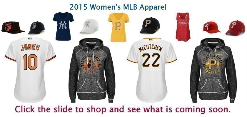 Bleacher Bums offers Women's mlb apparel.  From popular companies like Nike, Majestic, G-iii, and New Era, Bleacher Bums offers something for everyone.  Check out our selection of hats, jerseys, tee shirts, tank tops, and sweatshirts.  Bleacher Bums offers free shipping on all orders over $100.