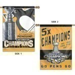 Penguins Stanley Cup Champs 2-Side Banner Thumbnail