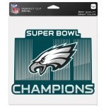 Eagles Super Bowl 52 Champs 8x8 Die Cut Decal Thumbnail