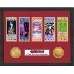 Super Bowl Tickets with Coins Framed Thumbnail
