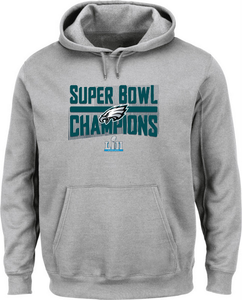 e12148044 Youth   Sweats   Eagles Youth Super Bowl 52 Champs Grey Hood