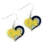 NCAA Swirl Heart Earrings Thumbnail